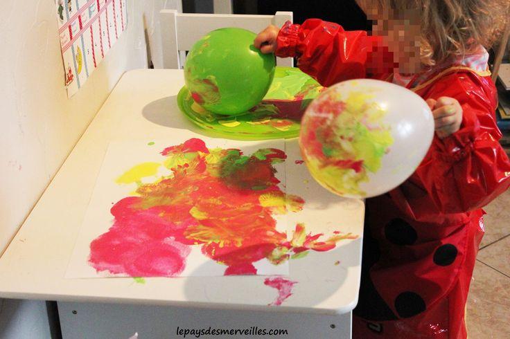 peindre avec un ballon de baudruche