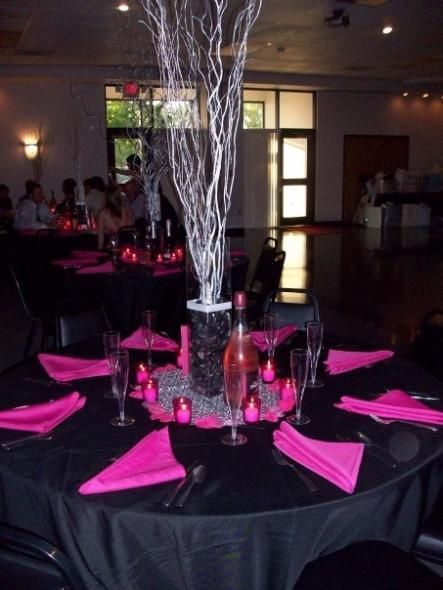 43 Best Images About Fuschia Amp Black Wedding On Pinterest