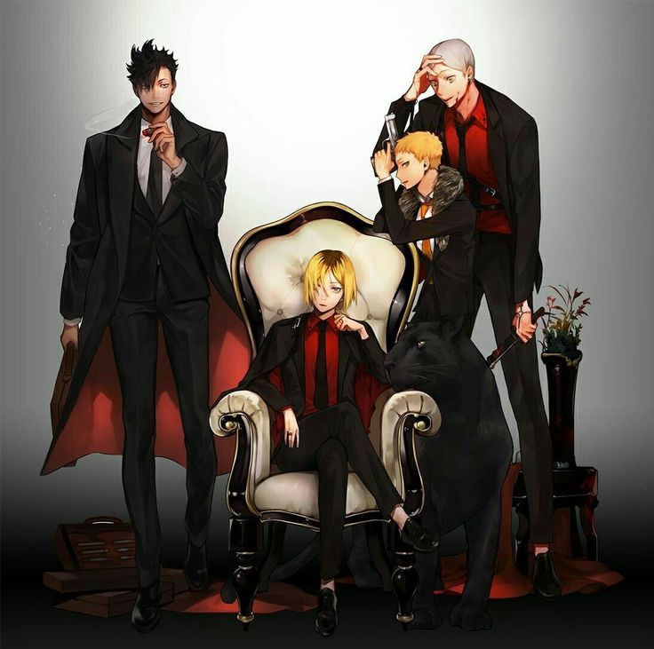 Kenma will be the main figurehead, kuroo will be the right hand man, yaku-san will be the backbone and everyone else will be different levels of muscle. They'll be that one Mafia group you just can't take down.