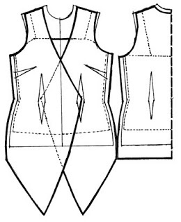 kebaya pattern - the text is a little hard to follow but the diagrams are clear.