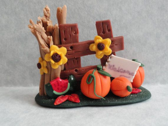 fall crafts for adults | Polymer_ Clay_ Thanksgiving _Craft_ Projects…