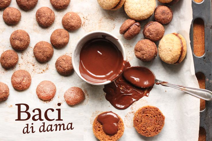 Chocolate Raspberry Baci Di Dama Recipe — Dishmaps
