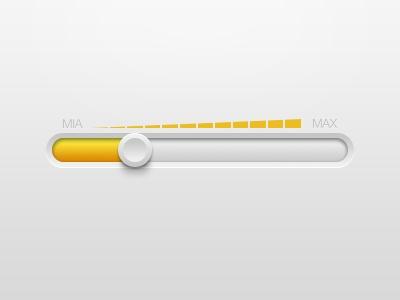 The volume adjustment UI design