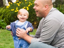 Baby and Dad on PicnicBaby Ideas, Dads