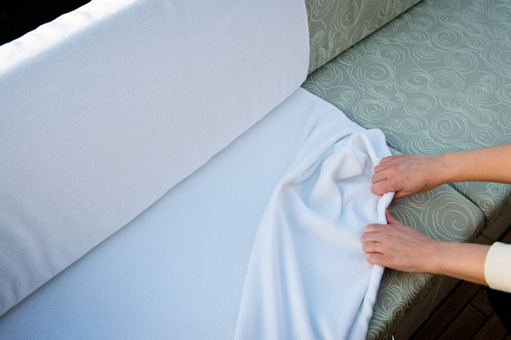 Extex Cocoon - removable towelling fabric to protect your outdoor cushions and sunbeds.