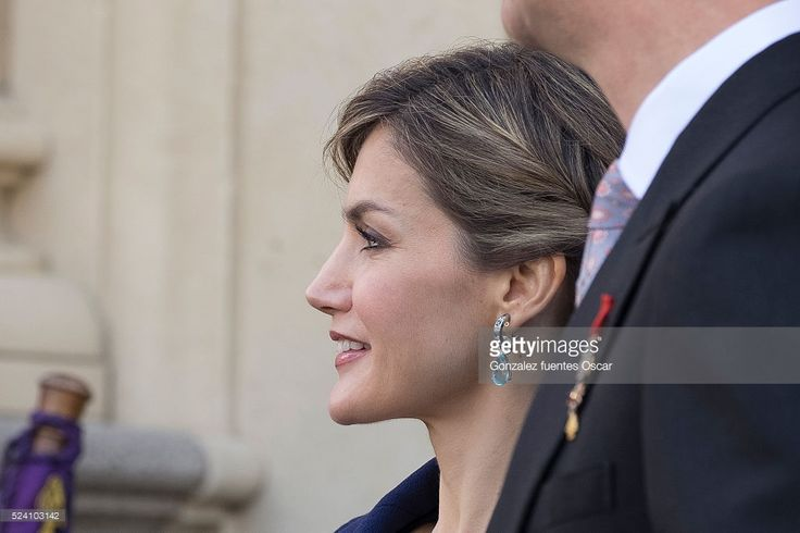 Queen Letizia of Spain attends the Miguel de Cervantes 2015 award ceremony at Alcala de Henares University on April 23, 2016 in Alcala de Henares, Spain.