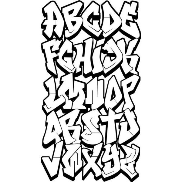 Grafitti Graffiti Alphabet, Graffiti and Graffiti Font ❤ liked on Polyvore featuring quotes