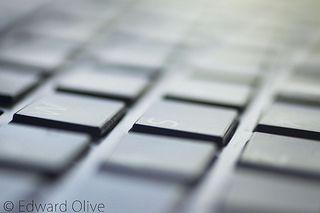 Computer keyboard © Edward Olive photographic studio Madrid Spain