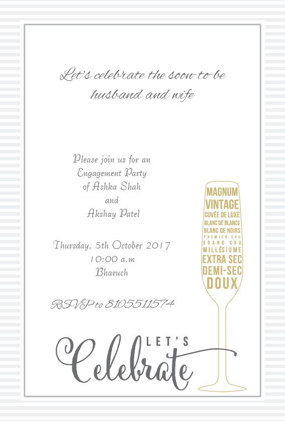 Click To Zoom.  Engagement Invitation Words