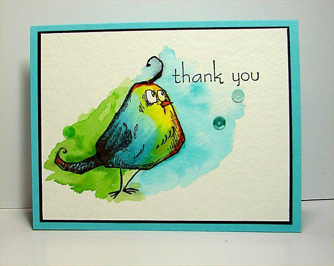 thank you card by donidoodle - Cards and Paper Crafts at Splitcoaststampers