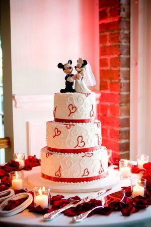 Disney taart bruiloft met Mickey en Minnie