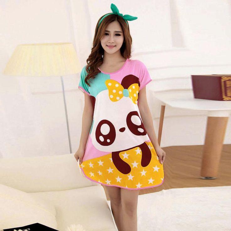 CharmDemon  New Fashion Cartoon Women Girl Sleepwear Pajamas Short Sleeve jn30
