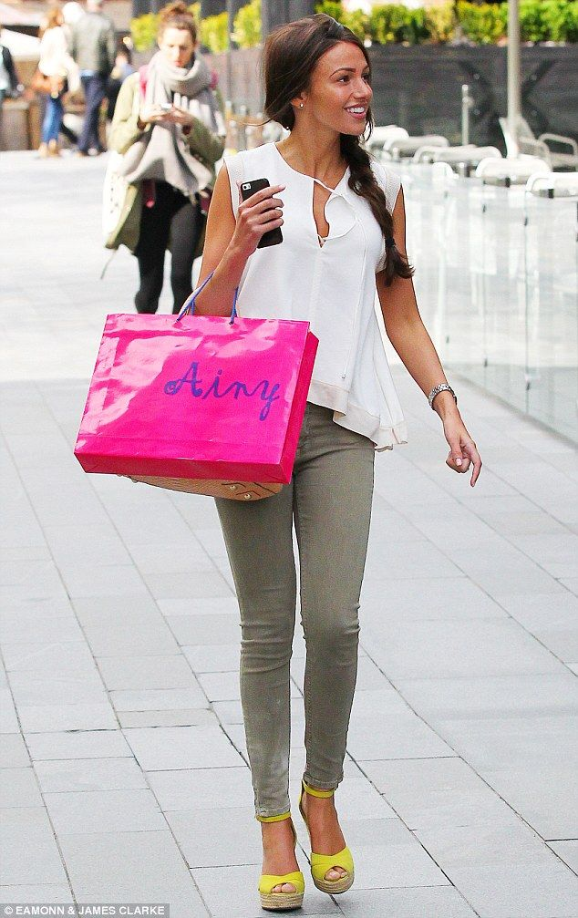 She's the bride-to-be! Michelle Keegan looked stylish as ever as she stepped out in Manchester on Thursday afternoon to make the final preparations for her upcoming wedding