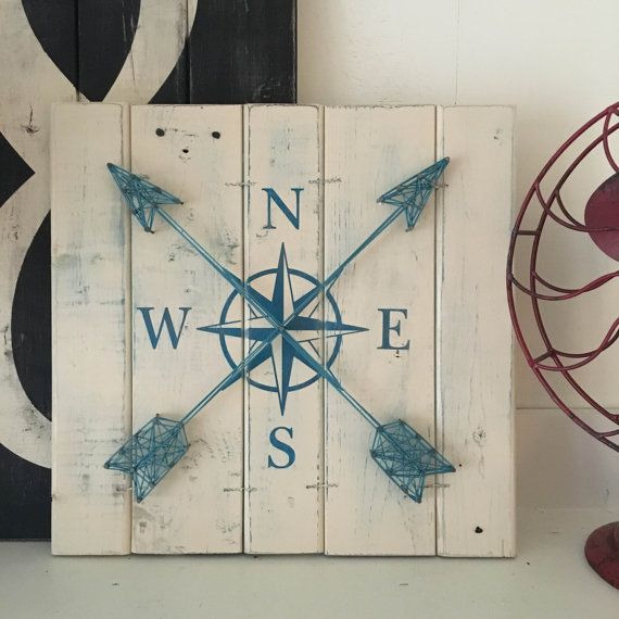This compass wall decor art piece allows you to take your own ocean voyage! Nautical art is perfect for a sophisticated gallery wall OR nursery,