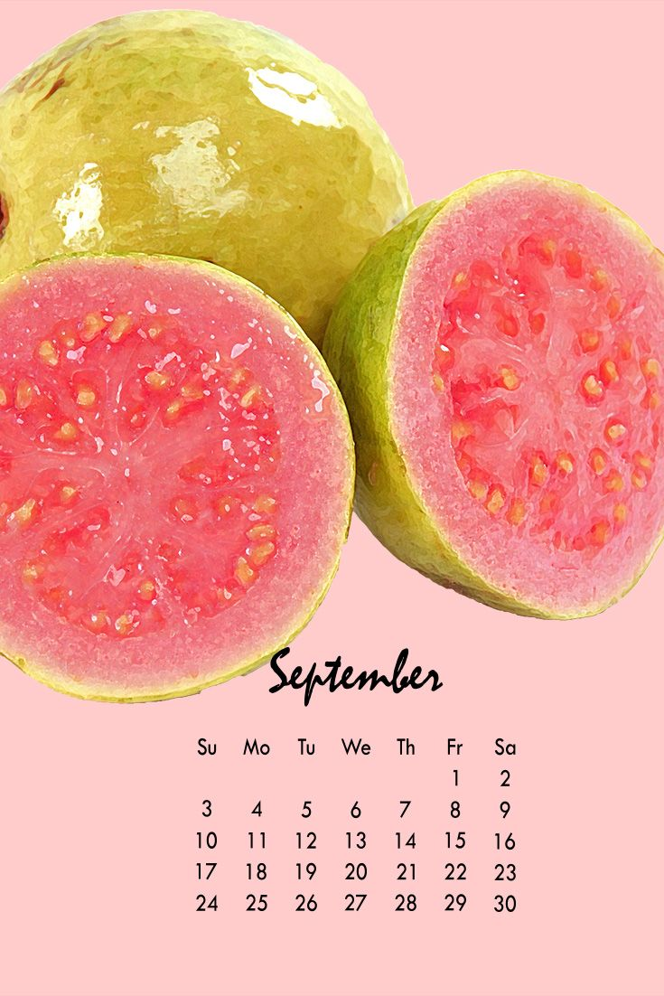 Red guava is September's calendar headliner. 2018 calendar also available. Download yours today... http://www.brookstropicals.com/taste-the-tropics-calendar/2018/