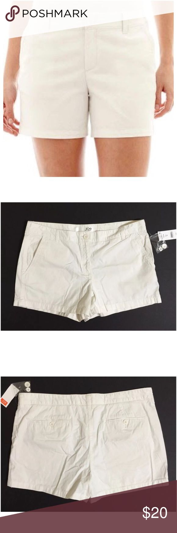 Joe Fresh Shorts Size 16 Joe Fresh Women's Shorts Size 16 Ivory / Cream Color Zip Front 1 External Button Closure 2 Front Pockets 2 Rear Pockets With Button Closure Belt Loops Machine Washable 100% Cotton Inseam Approx. 3.5 Inches Rise Approx. 11 Inches Waist Approx. 39 Inches Hips Approx. 41 Inches New With Tags Joe Fresh Shorts