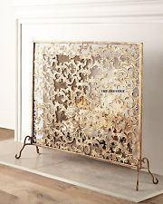 ITALIAN GOLD ACANTHUS LEAF  FIREPLACE  SCREEN HORCHOW