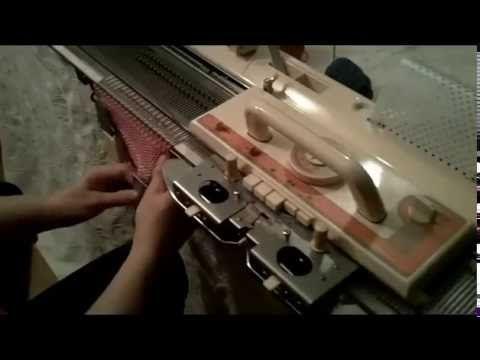 Crochet-like Stitch on Knitting Machine - YouTube