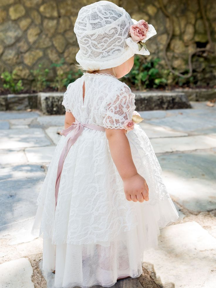 des.#daniella Lace baby dress with handmade silk flowers #babydress #βαπτιστικό για #κορίτσι #vaptisi #βάπτιση #designerscat #βαπτισηκοριτσιού #βαπτιστικά #christening for #girl, design by #alexandralati, #kindsfashion #luxurydress