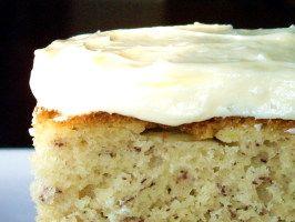 Banana Cake With Homemade Pudding Icing
