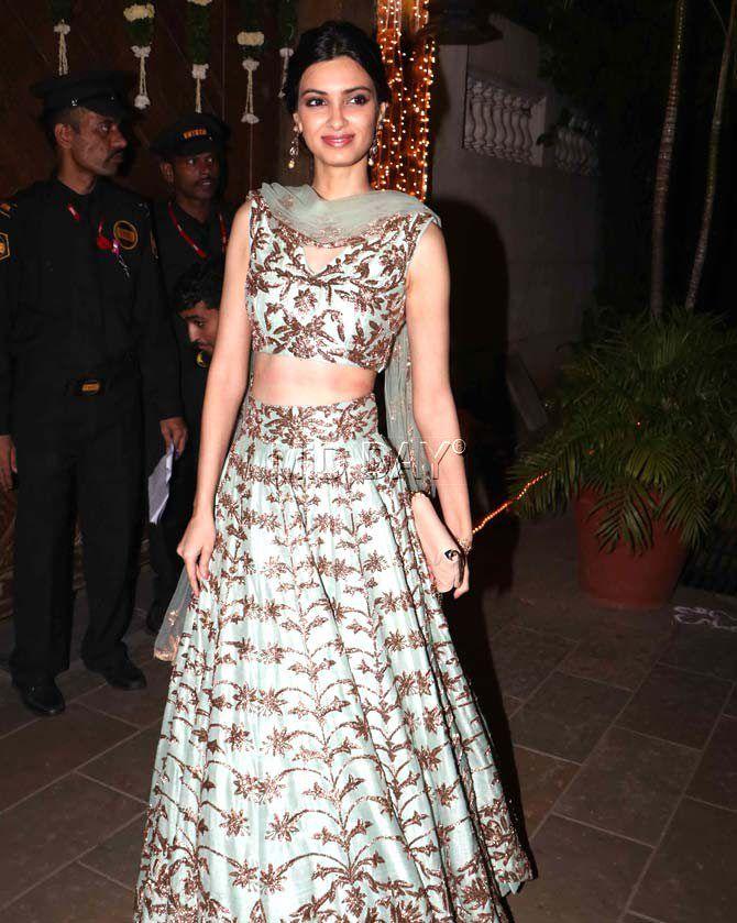 Diana Penty at the Bachchans' grand Diwali bash. #Bollywood #Fashion #Style #Beauty #Hot #Sexy #Ethnic