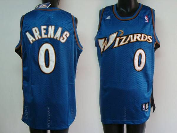 Wizards #0 Gilbert Arenas Embroidered Blue NBA Jersey