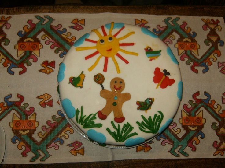 fondant cake,fisrt try