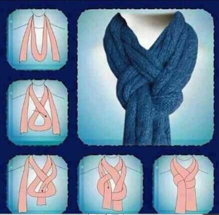 Clever way to tie a scarf around your neck