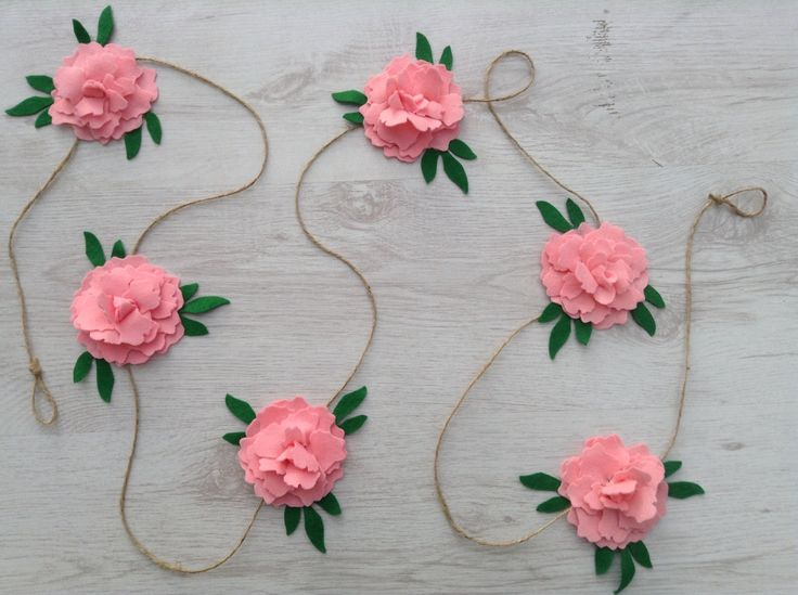 A personal favorite from my Etsy shop https://www.etsy.com/listing/233013393/peony-rose-garland