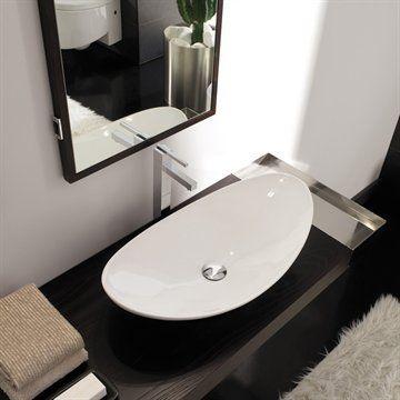 Tvättställ Zefino 70 för placering på bänkskiva.