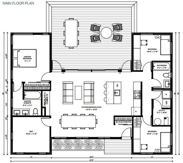 629 best floor plans images on pinterest floor plans for Modern modular homes floor plans