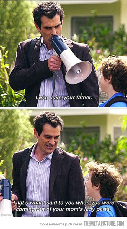 Luke, I am your father #modernfamily