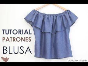 DIY Blusa sin hombros DENIM | Manualidades