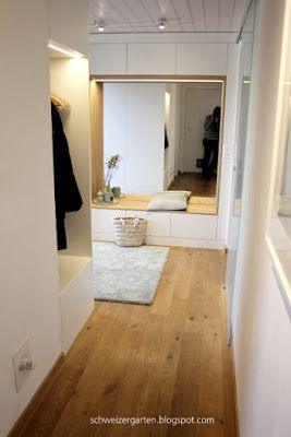 Built-in furniture, wardrobe, modern, white handleless …