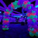 Neon Garland Balloon Arch Entrance Party People Celebration Company