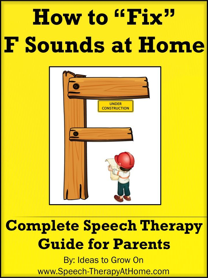 Complete guide to help parents work on F sounds at home. Therapy Ideas, Game Ideas, Printable Practice Cards and More. Speech Therapy at Home. $5.99