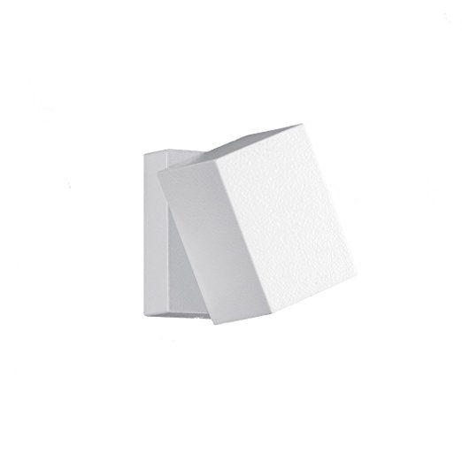 Trio Leuchten LED Außen-Wandleuchte, Aluminiumguss, inklusiv 3 x 1 W, 10 x 7 cm, um 320° schwenkbar, weiß 229160101