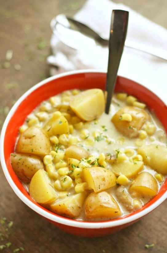 Crock Pot Corn and Potato Chowder