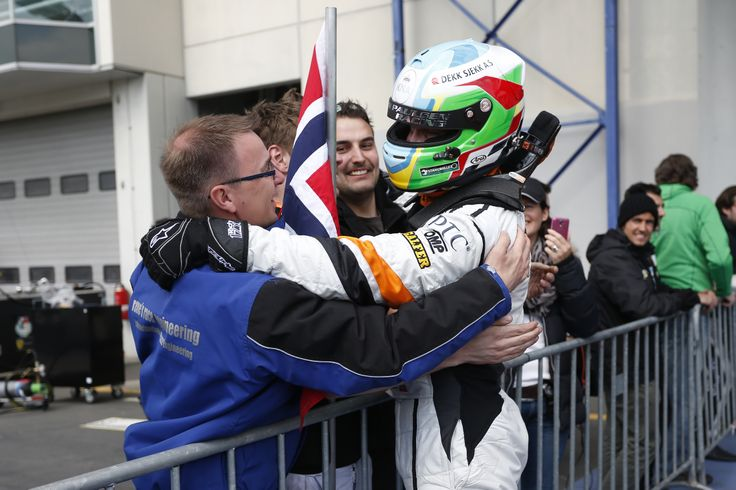 Stian Paulsen, winner of the second race, at the Nürburgring in Germany