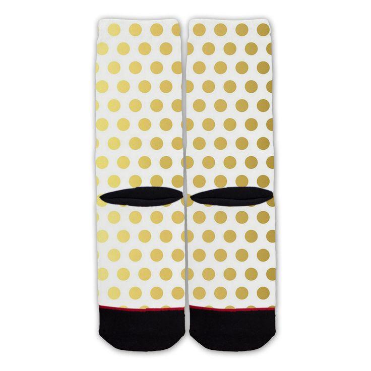 Function - Gold Dot Pattern Fashion Socks