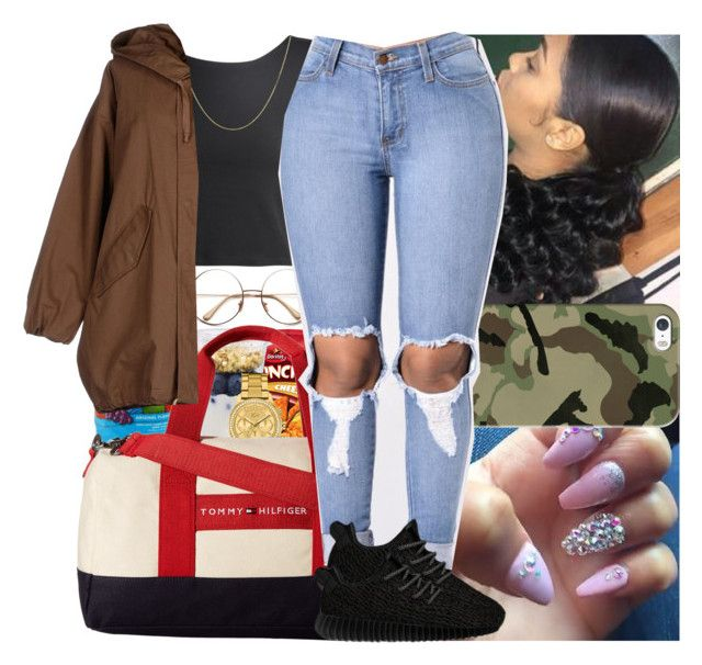 """""""I f*ck with savages your a f*ckboi you can't hang"""" by msixo ❤ liked on Polyvore featuring Hard Candy, Lacoste, Tommy Hilfiger, Casetify, BERRICLE, Erika Cavallini Semi-Couture and adidas Originals"""