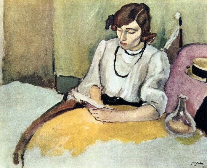 Jules Pascin (Bulgarian-born French & American painter, 1885-1930) Artist's Wife Hermine David 1908-10 г.