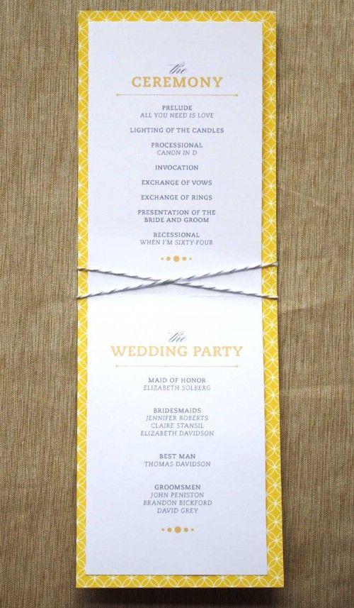 program: Program Invitation Inspiration, Wedding Ideas, Event Party Ideas Invitations, Invitation Ideas, Diy Gifts, Fun Wedding Programs, Ceremony Program, Simple Wedding