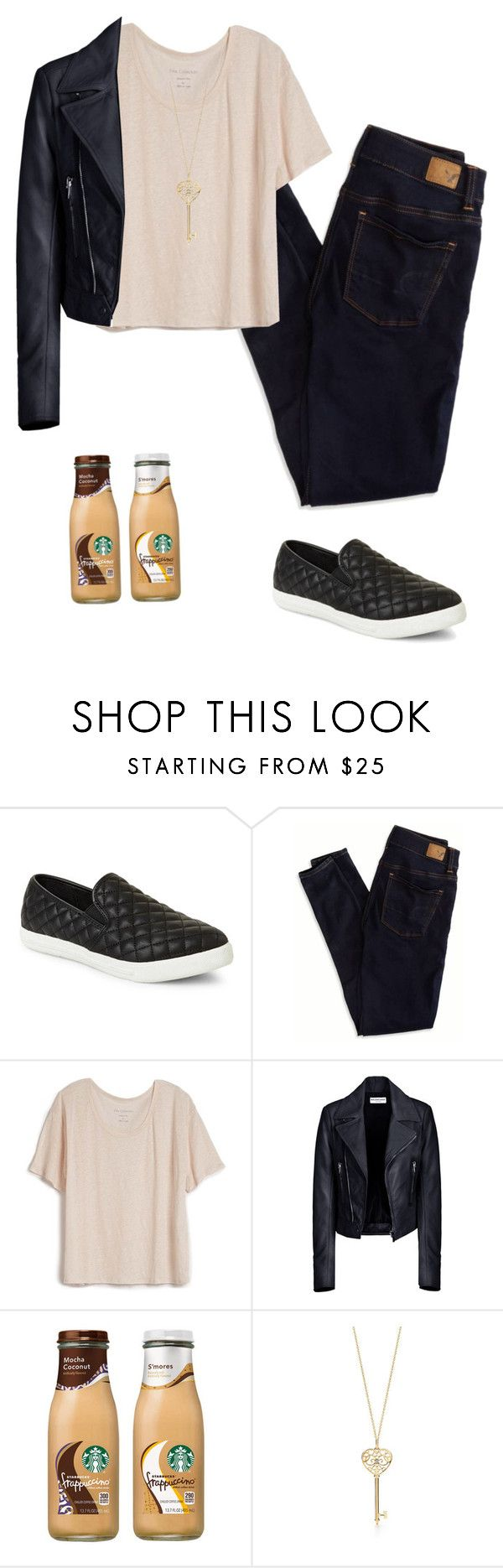 """""""Casual"""" by clarityclark ❤ liked on Polyvore featuring Steve Madden, American Eagle Outfitters, Fine Collection and Balenciaga"""