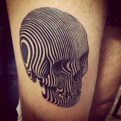 At first this tattoo just looks like a bunch of lines, then the image starts to pop.