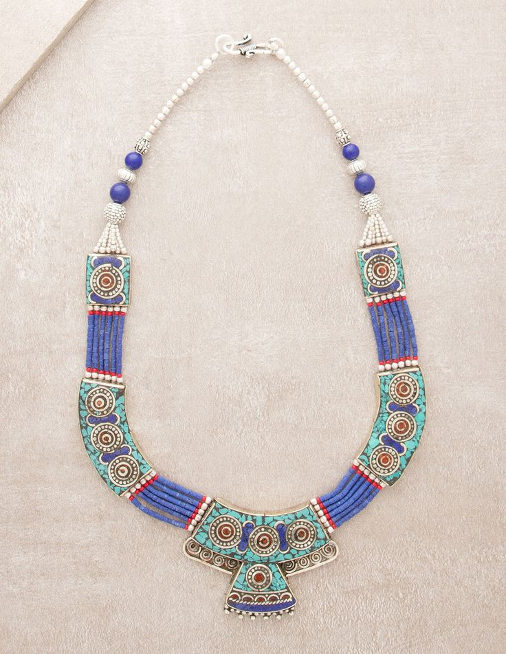 Tibetan Turquoise Lapis Necklace