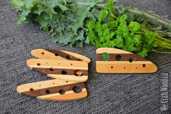 Wooden Herb Stripper  Perfect for anything from kale to thyme.