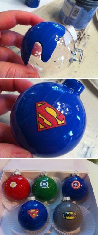 Superhero Christmas Balls: