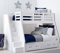 pottery barn kids has bunk beds for kids designed for safety durability and style find kidsu0027 bunk beds and create space while making bedtime fun