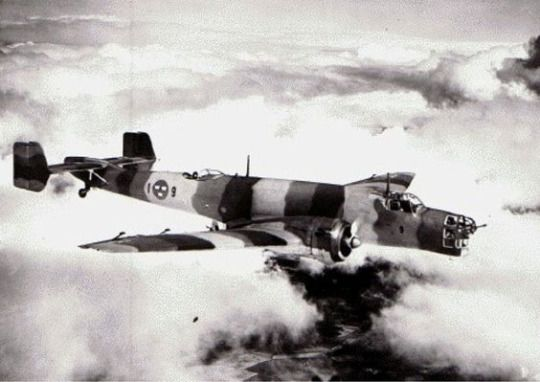 Ju-86 bomber in service with the Swedish Air Force (Date and location unknown)
